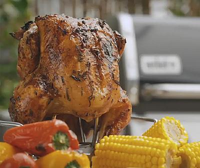 Видеорецепт: курица на гриле Weber с гарниром из овощей